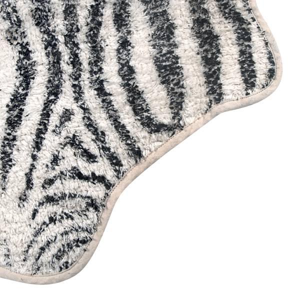 HK Living Badmat zebra 85x100cm, zwart/ecru