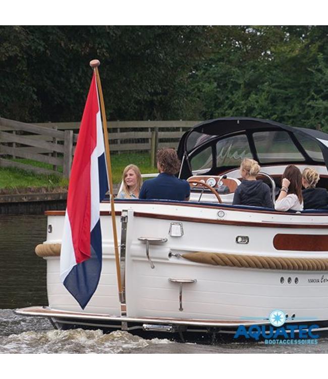 Zeer Grote vlaggenstok 300 cm met classic NL vlag - Aquatec bootaccessoires XB34