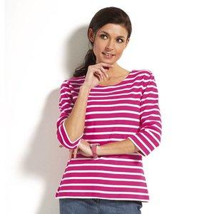 Modas Bretonse streepshirt met 3/4e mouwen in 13 kleurcombinaties
