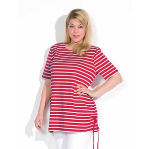 Bretonse streep Damesshirt met korte mouwen