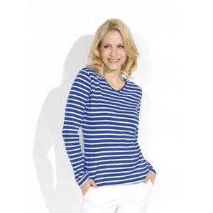 Bretonse streepshirt voor dames V-hals in 8 kleurcombinaties