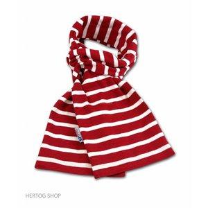 Modas Bretonse sjaal in Rood met witte streep