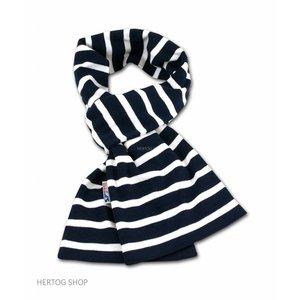 Modas Bretonse sjaal  in marineblauw met witte streep