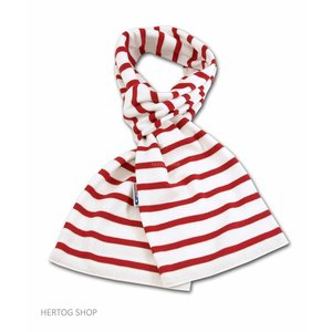 Modas Bretonse streepsjaal Wit-rood v.a.