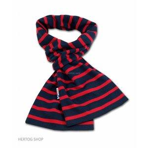 Modas Bretonse sjaal ca. 15x140 cm in Donkerblauw met rode streep