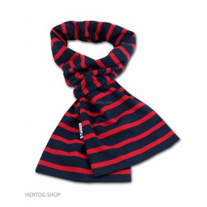 Modas Bretonse sjaal in Marineblauw met rode streep
