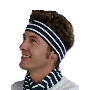 Modas Bretonse streep hoofdband voor kinderen en volwassenen