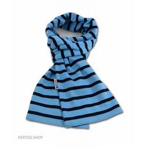 Modas Bretonse sjaal in Lichtblauw met marineblauwe streep