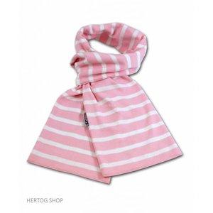 Modas Bretonse sjaal ca. 15x140 cm in Roze met witte streep