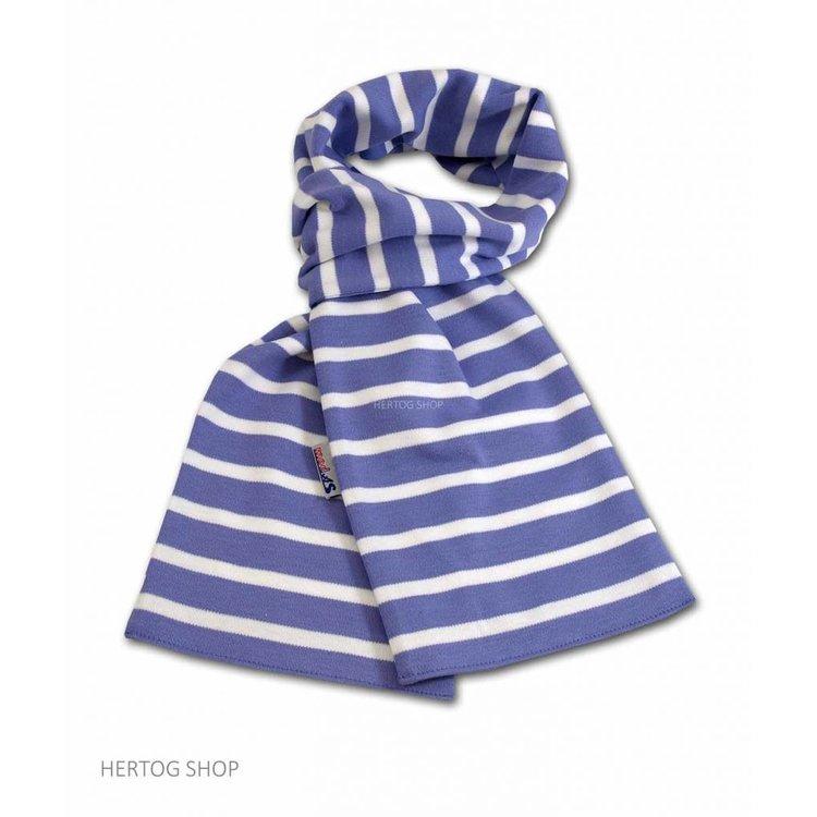 Modas Bretonse sjaal in Lichtpaars met witte streep