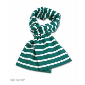 Modas Bretonse sjaal in Groen met witte streep
