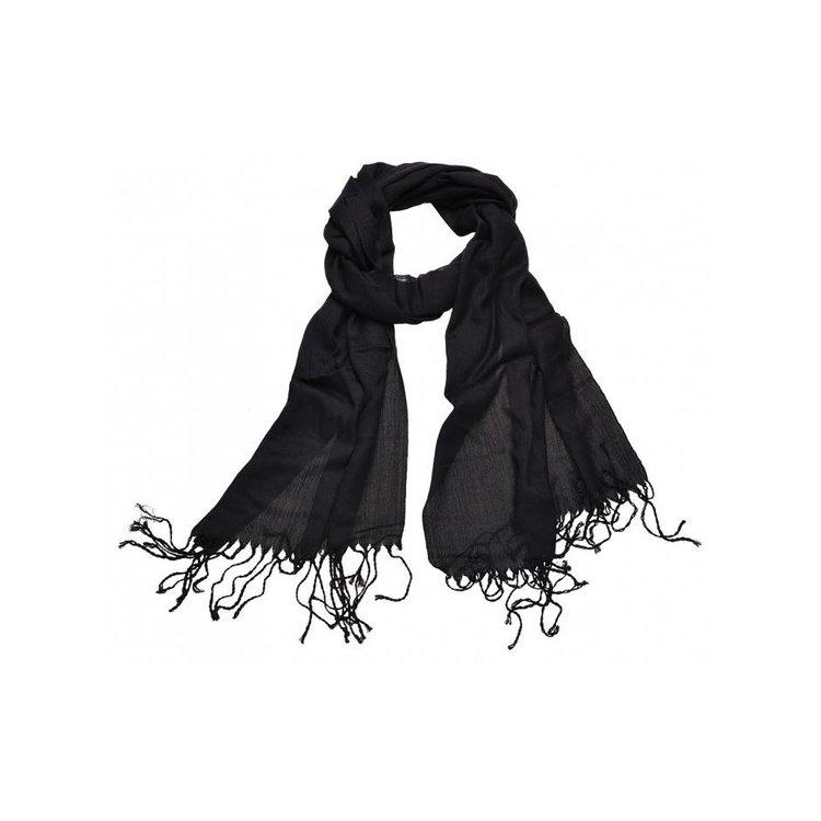 Pashmina sjaal Viscose - Zwart