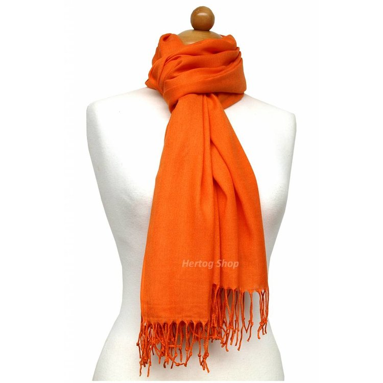 Pashmina sjaal Premium - Kleur Oranje