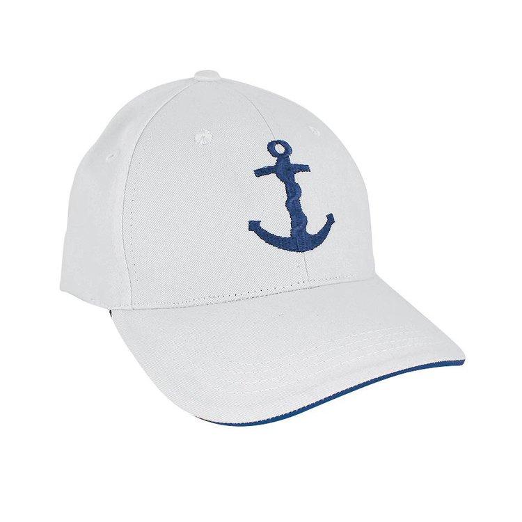 Geborduurde witte baseball-cap