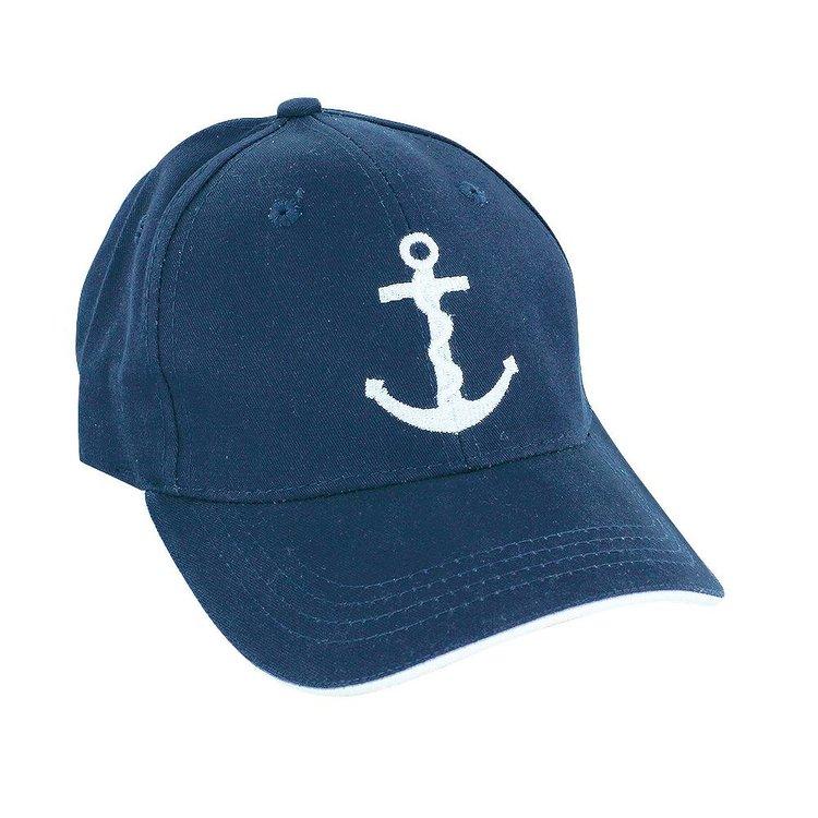 Geborduurde blauwe baseball-cap