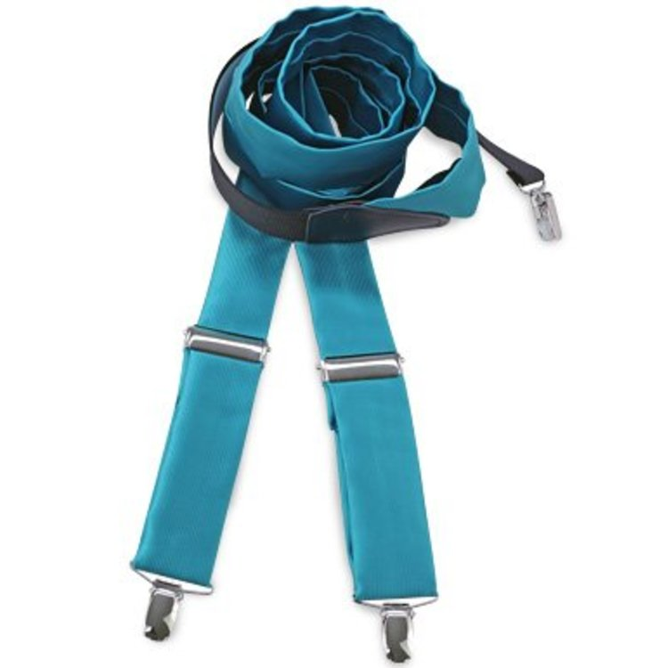 Polyester bretels repp Turquoise
