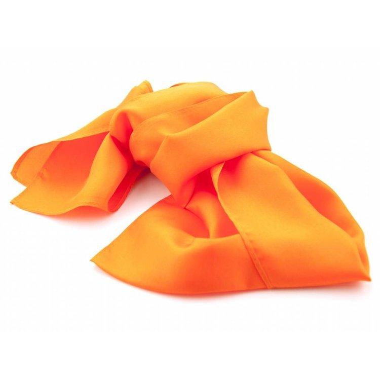 Luxe zijden sjaal - Oranje