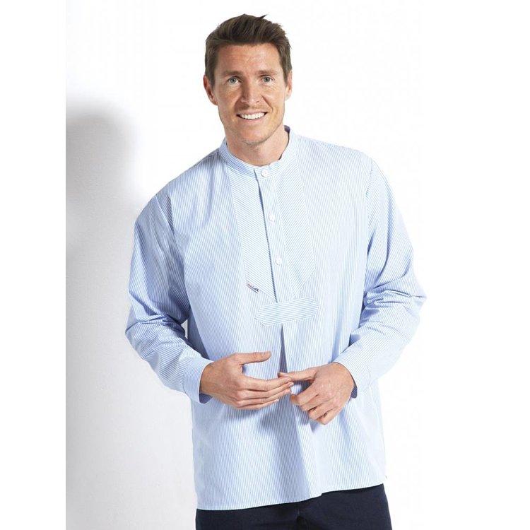 Vissershemd in easycare poplin in 3 kleuren