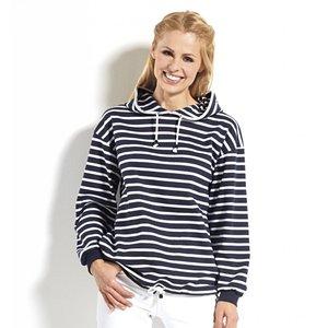 Bretons streepshirt met capuchon in 8 kleurcombinaties