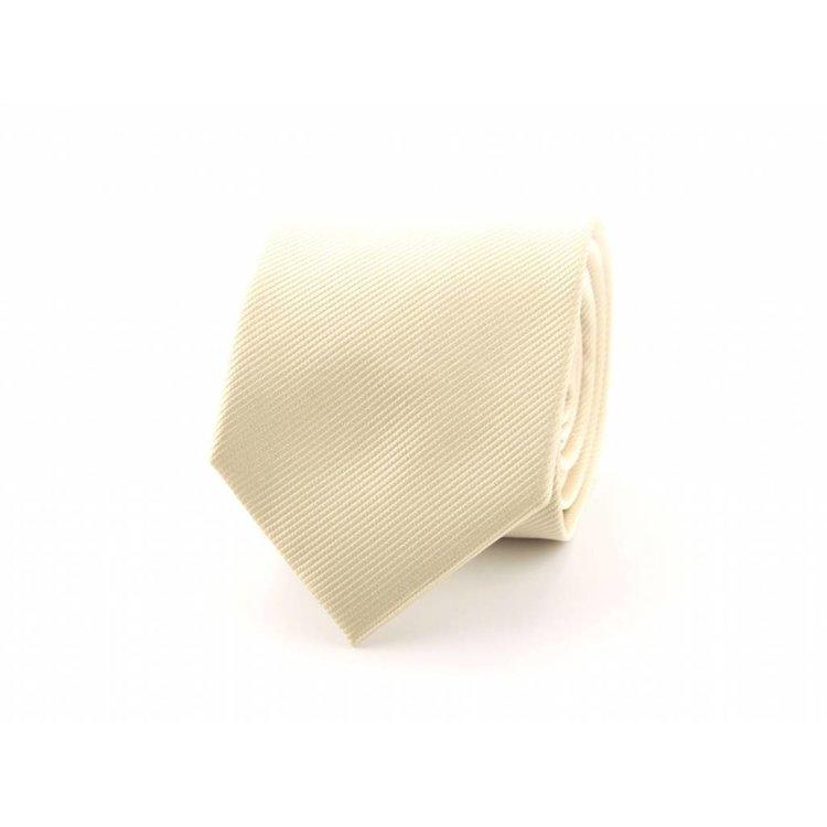 Zijden stropdas - Creme