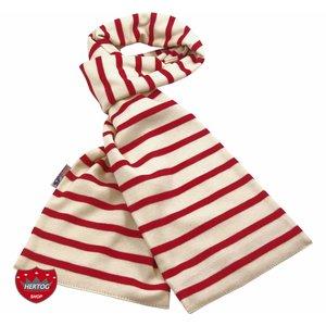 Bretonse sjaal ca. 15x140 cm in Ecru met rode streep
