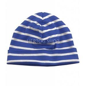 Bretonse streep-muts  Royalblauw-wit