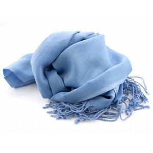 Pashmina sjaal - Middenblauw