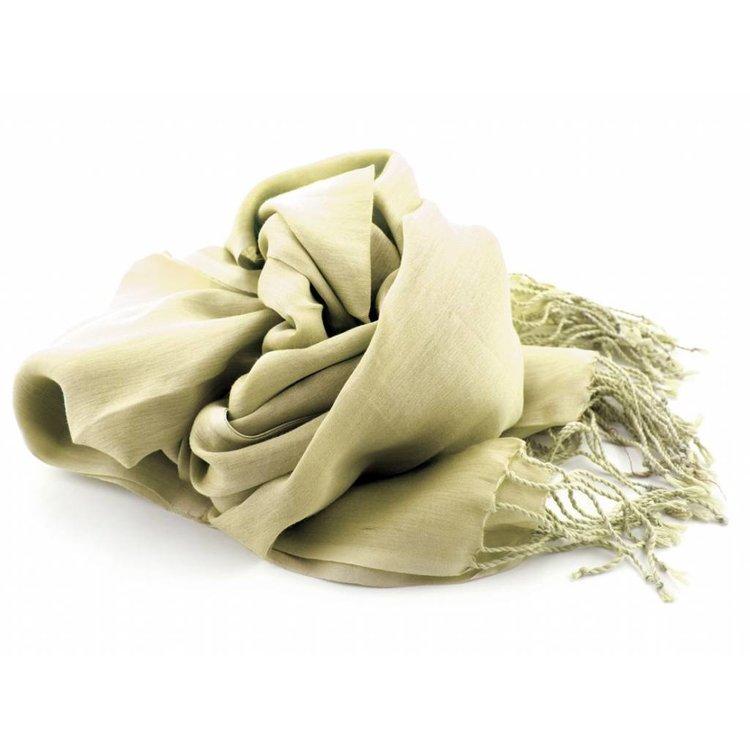 Pashmina sjaal Katoen/zijde - Beige