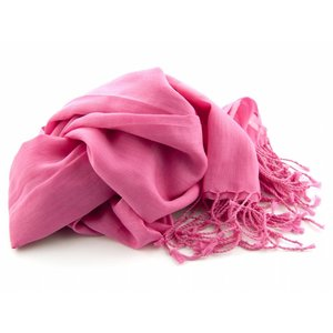 Pashmina sjaal Katoen/zijde - Fuchsia
