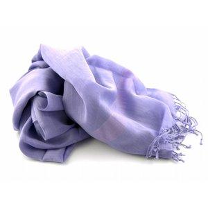 Pashmina sjaal Katoen/zijde - Lila