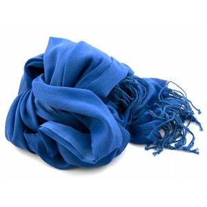 Pashmina sjaal Katoen/zijde - Blauw