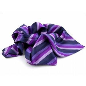 Sjaal met streepdessin - Paars