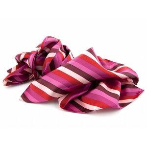 Sjaal met streepdessin - Roze