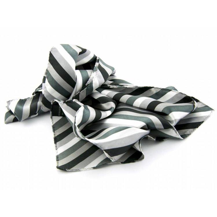 Sjaal met streepdessin in grijze tinten
