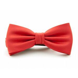 Vlinderstrik polyester-satijn Rood