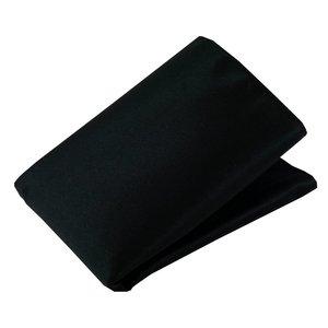 Pochet polyester-satijn Zwart