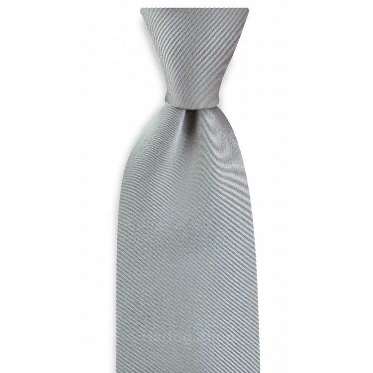 Polyester stropdas Elegance Zilvergrijs