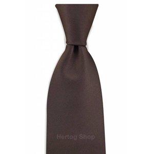 Polyester stropdas Elegance Donkerbruin