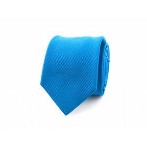 Zijden stropdas - Azuurblauw
