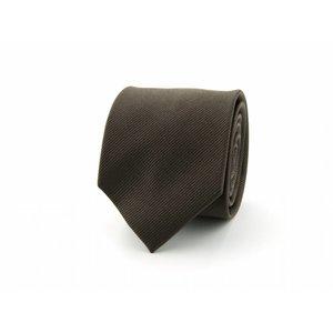 Zijden stropdas - Donkerbruin