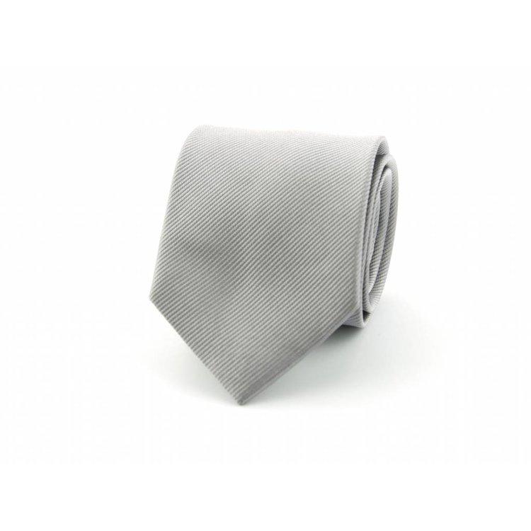 Zijden stropdas - Zilvergrijs
