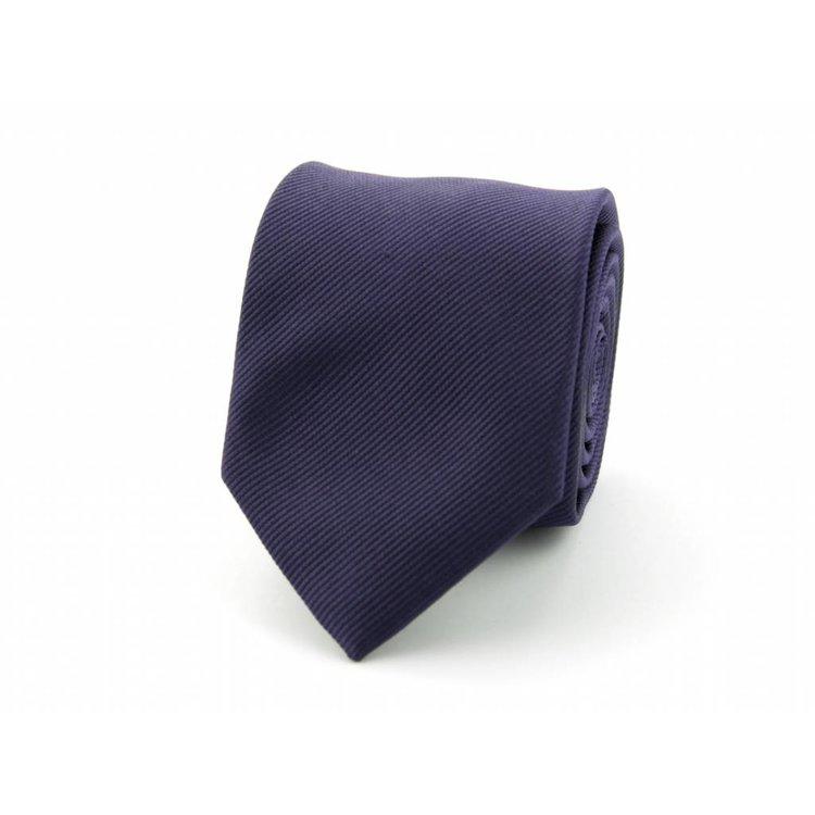 Zijden stropdas - Diepdonkerpaars