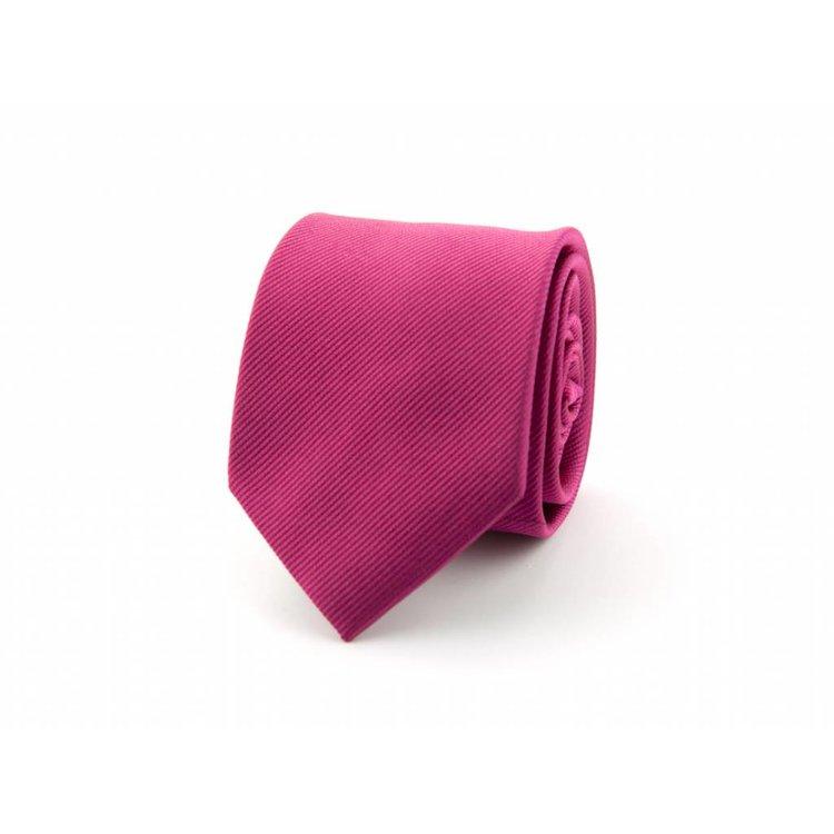 Zijden stropdas - Donkerfuchsia