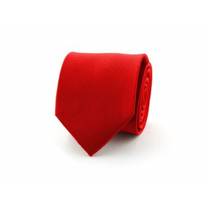 Zijden stropdas - Dieprood