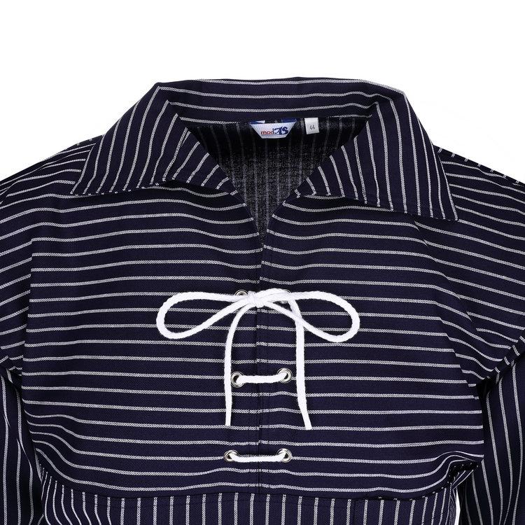 Modas Origineel Takelhemd met koordsluiting, brede strepen