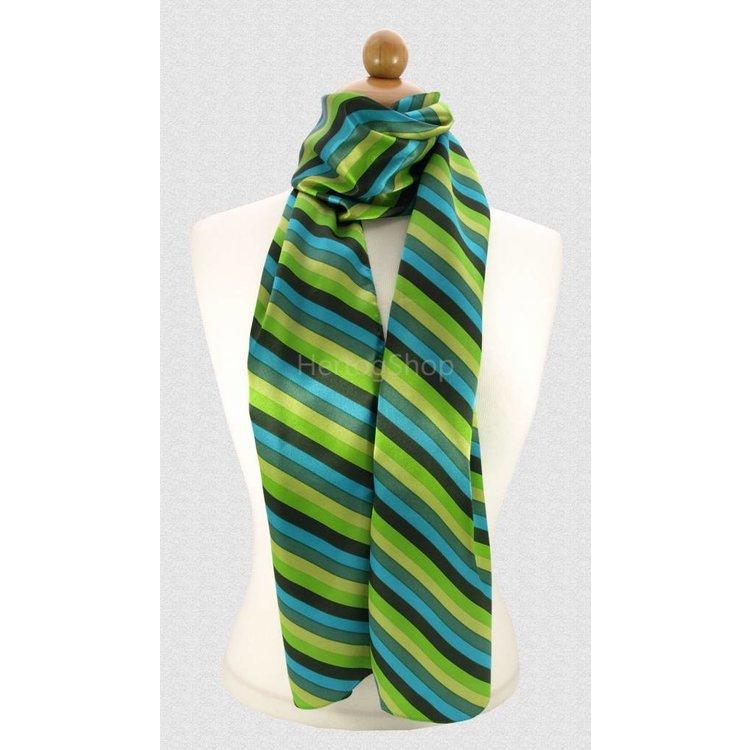 Sjaal met streepdessin in groene tinten