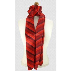 Sjaal met streepdessin in rode tinten
