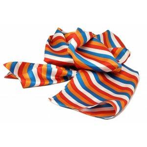 Sjaal met streepdessin in Rood/wit/blauw en oranje strepen