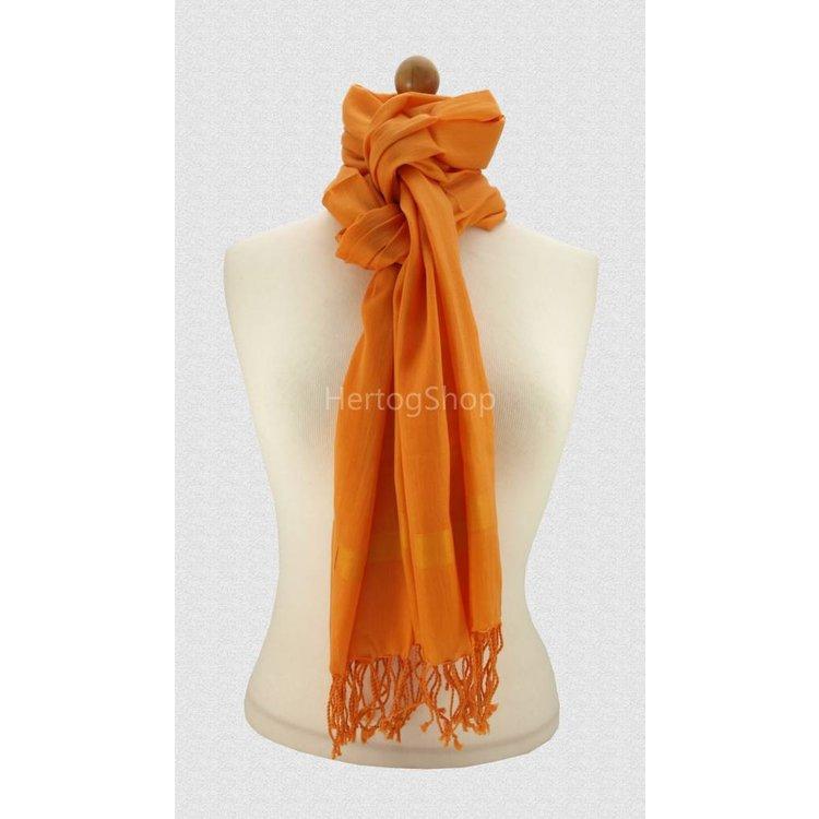 Pashmina sjaal Katoen/zijde - Oranje
