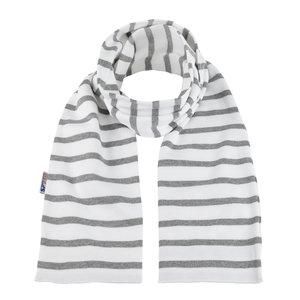 Modas Bretonse sjaal in Wit met grijze streep
